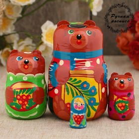 Матрёшка «3 медведя», сюжетная, 4 кукольная, 13 см
