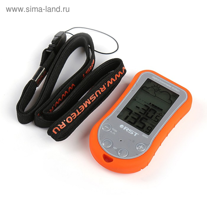 Метеостанция RST 02559, для путешественников, охотников, рыболовов, цвет оранжевый