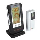 Термометр RST 02710, цифровой, радио-датчик, часы, прорезиненный корпус, календарь, черный