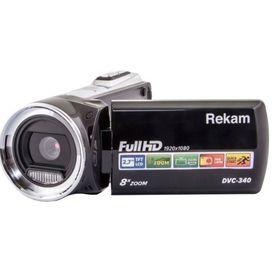 Видеокамера Rekam DVC-340,  IS el 2.7', 1080 p, SD+MMC Flash/Flash, черная Ош