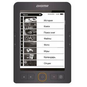 Электронная книга Digma S683G, 6', 1024x758, Touch Screen, 4 Гб, microSDHC, серая Ош