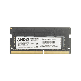 Память DDR4 4Gb 2400MHz AMD R744G2400S1S-UO OEM PC4-19200 CL16 SO-DIMM 260-pin 1.2В