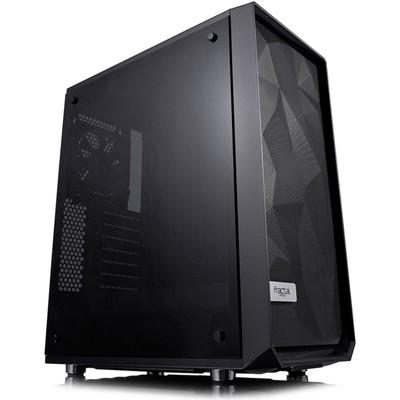 Корпус Fractal Design Meshify C Blackout TG, без БП, ATX, черный - Фото 1