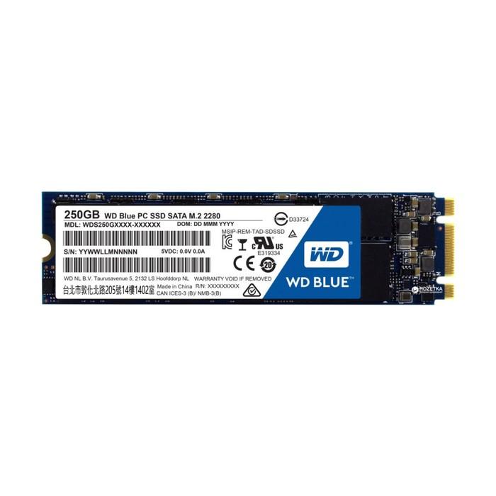 SSD накопитель WD Blue 250Gb (WDS250G2B0B) SATA-III