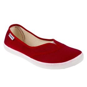 Балетки Domino, цвет красный, размер 36