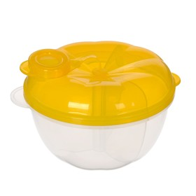 Контейнер пищевой для хранения детского питания, дозатор 3 секции, от 0 мес., цвет жёлтый