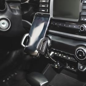 Держатель телефона TORSO раздвижной 50-100 мм, в прикуриватель с USB