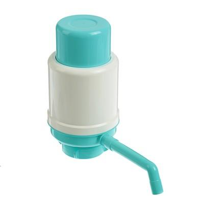 """Помпа для воды """"Дельфин"""" Эко, под бутыль от 12 до 19 л, бирюзовый - Фото 1"""