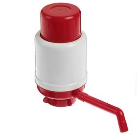 Помпа для воды 'Дельфин' Эко, механическая, под бутыль от 11 до 19 л, красная Ош