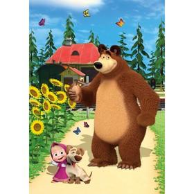 Фотообои К-157 «Маша и медведь» (4 листа), 140*200 см Ош