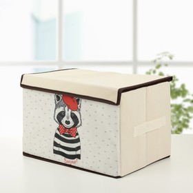 Короб для хранения с крышкой «Енот», 39×25×25 см Ош