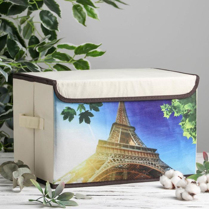 Короб для хранения с крышкой «Эёфелева башня», 39×25×25 см