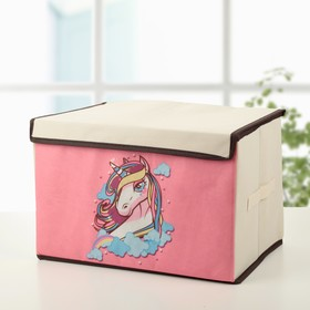 Короб для хранения с крышкой «Единорог», 39×25×25 см Ош