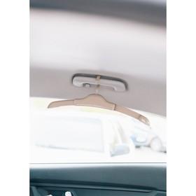 Плечики автомобильные на ручку , пластик,цвет бежевый Ош