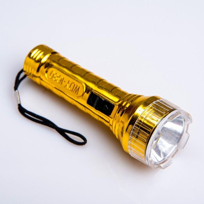 Фонарь ручной Металлик, 1 LED, микс, 3.5х10 см