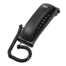 Телефон Ritmix RT-007, проводной, повторный набор, черный Ош
