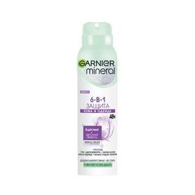 Дезодорант-антиперспирант Garnier Mineral Защита 6 «Весенняя свежесть», защита 48 часов, аэрозоль, 150 мл