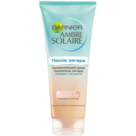Увлажняющий крем Garnier после загара - усилитель загара Ambre Solaire, с глицерином и витамином Е, 200 мл
