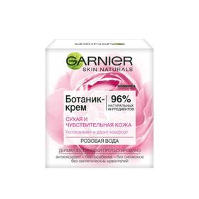 """Ботаник-крем для лица Garnier """"Розовая вода"""", успокаивающий, для сухой и чувствительной кожи, увлажняющий, 50 мл"""