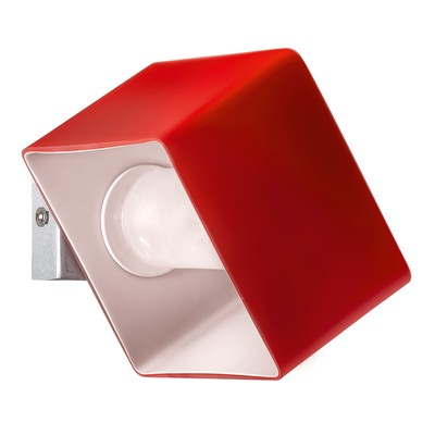 Светильник PEZZO 1х40Вт G9 хром, красный 12,5x10x7,5см