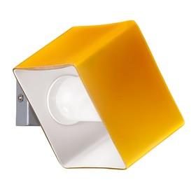 Светильник PEZZO 1х40Вт G9 хром, янтарь 12,5x10x7,5см