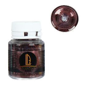Декоративные блёстки LUXART LuxGlitter (сухие), 20 мл, размер 0.2 мм, коричневый тёмный