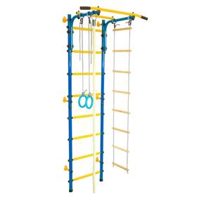 Детский спортивный комплекс «Юный АТЛЕТ Пристенный», 600 × 900 × 2200 мм, цвет синий