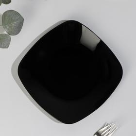 Тарелка, 20,5×20,5 см, чёрная