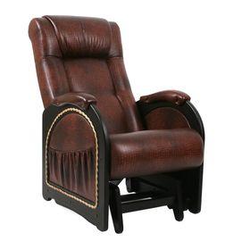 Кресло-качалка глайдер Модель 48 Лоза/Венге/Антик Крокодил