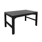 Стол Lyon rattan table, 120 × 70 × 65 см, цвет графит