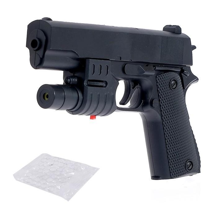 Пистолет Град, с лазером, стреляет гелевыми пулями