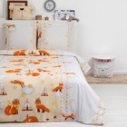 Детское постельное бельё ДайПоспать «Лисята», цвет бежевый, 147х217 см, 150х220 см, 70х70 см - 2шт