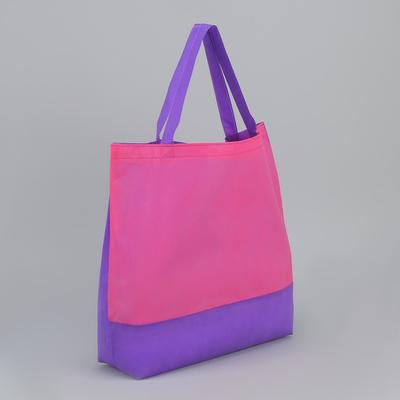 Сумка хозяйственная, 1 отдел, цвет малиновый/фиолетовый
