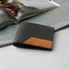 Портмоне мужское, 2 отдела, для карт, для монет, для sim-карты, цвет чёрный