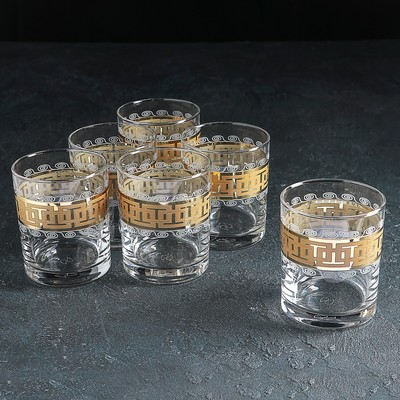 Набор стаканов для виски «Меандр»,,270 мл, 6 шт
