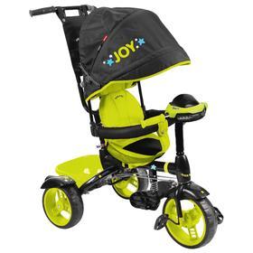 Велосипед трёхколёсный Nika ВД4М, колёса EVA 10'/8', цвет чёрный/лимонный Ош