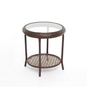 Стол BROWN, 55 × 55 × 59 см, искусственный ротанг, коричневый, GG-04-05