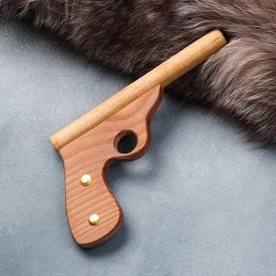 """Сувенирное деревянное оружие """"Пистолет полицейский"""", 25 см, массив бука"""