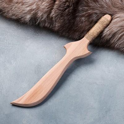 """Сувенирное деревянное оружие """"Нож боевой"""", 30 см, массив бука"""