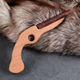 """Сувенир деревянный """"Пистоль"""", 25 см, массив бука"""