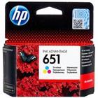 Картридж струйный HP 651 C2P11AE многоцветный для HP DJ IA (300стр.)