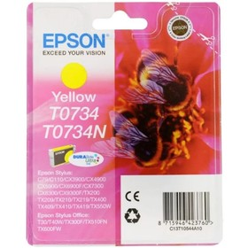 Картридж струйный Epson T0734 желтый для Epson С79/СХ3900/4900/5900
