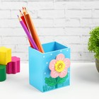 Карандашница «Цветочек с божьей коровкой» с прищепкой, цвета МИКС