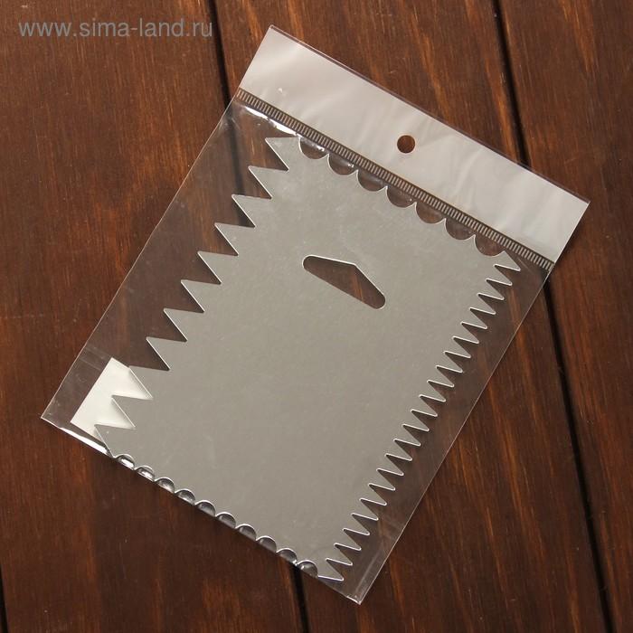 Шпатель кондитерский «Зубчики», 12×10×0,1 см