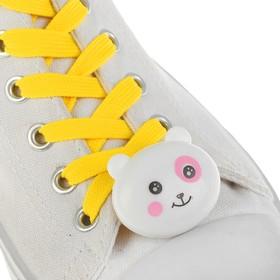 Шнурки световые «Мордочка», 2 шт., длина шнурка 120 см, цвет желтый Ош