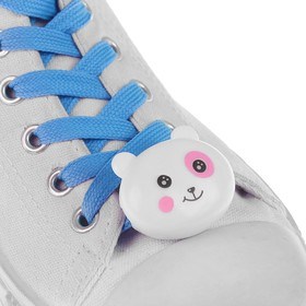 Шнурки световые «Мордочка», 2 шт., длина шнурка 120 см, цвет голубой Ош