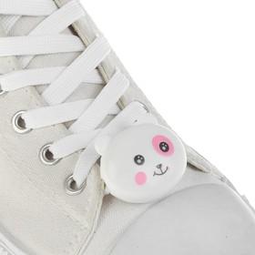 Шнурки световые «Мордочка», 2 шт., длина шнурка 120 см, цвет белый Ош