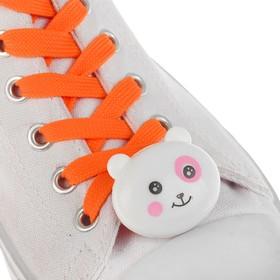Шнурки световые «Мордочка», 2 шт., длина шнурка 120 см, цвет оранжевый Ош