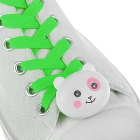 Шнурки световые «Мордочка», 2 шт., длина шнурка 120 см, цвет зелёный Ош