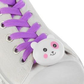 Шнурки световые «Мордочка», 2 шт., длина шнурка 120 см, цвет фиолетовый Ош